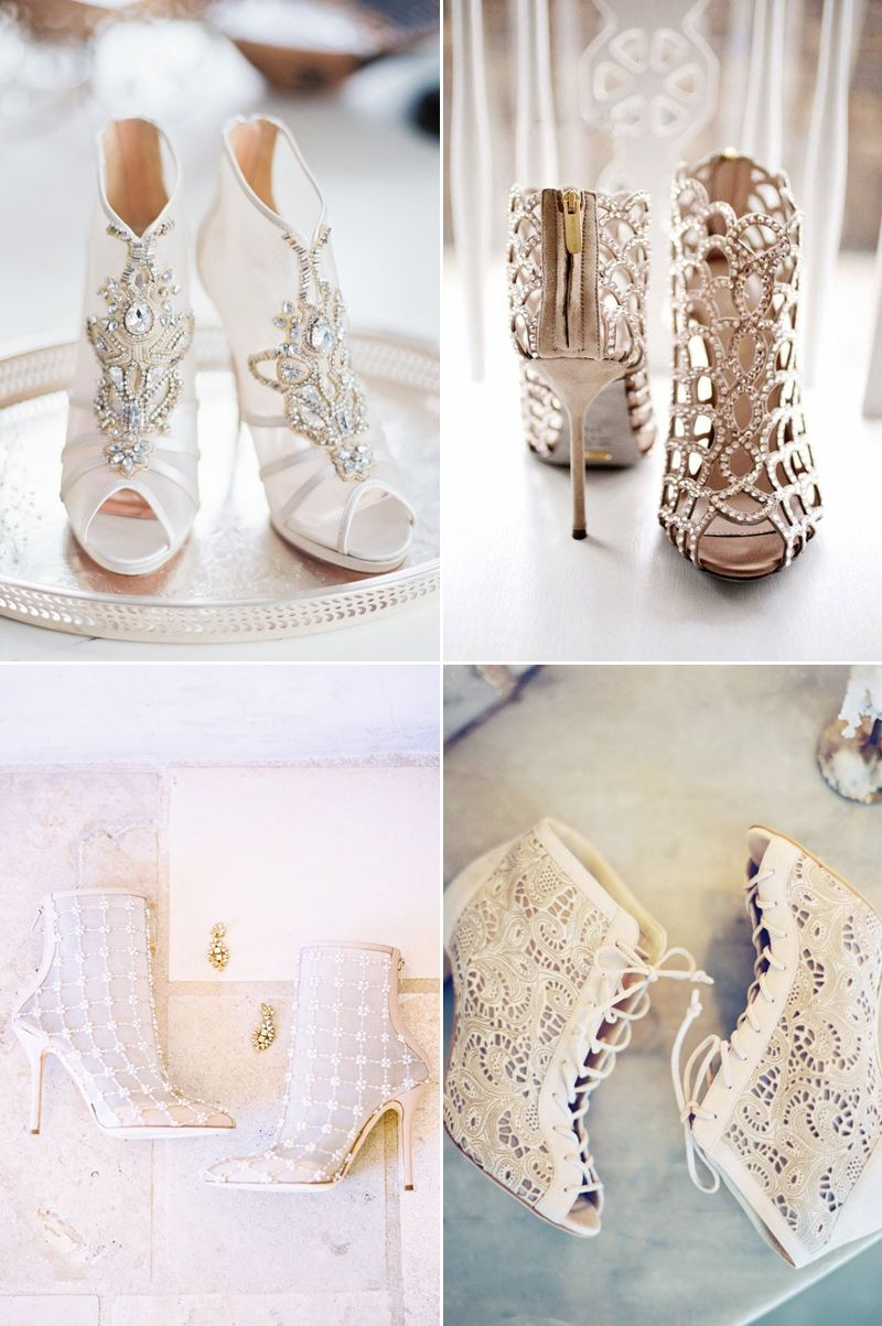 Wedding shoes for lace dress  The Perfect Pair Our Current Fave Wedding Shoe Trends  Wedding