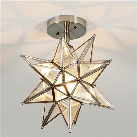 Moravian Star Ceiling Light Kitchen Lights On