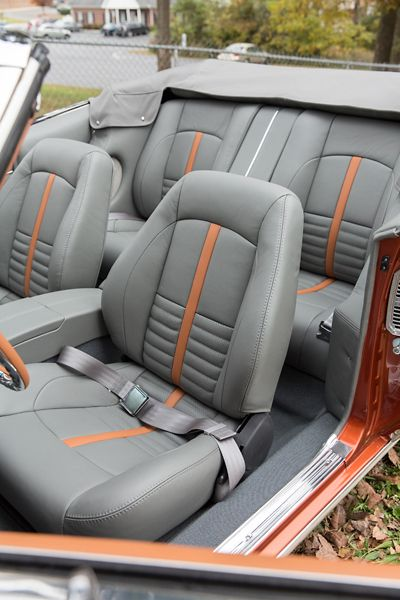 1968 Chevy Camaro Convertible Grey Orange Custom Interior