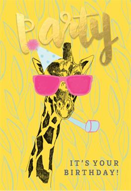Party Animal Birthday Card Free Greetings Island Birthday Card Template Happy Birthday Printable Giraffe Birthday