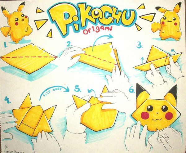 Adorable origami pokemon instructions http www for How to make paper things easy step by step