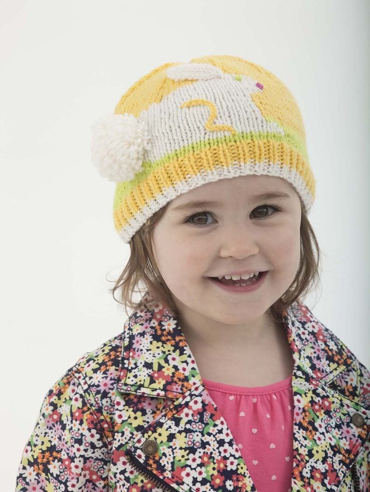 Bunny Hat Pattern (Knit) | Easter Knitted Hats Bunnies | Pinterest ...