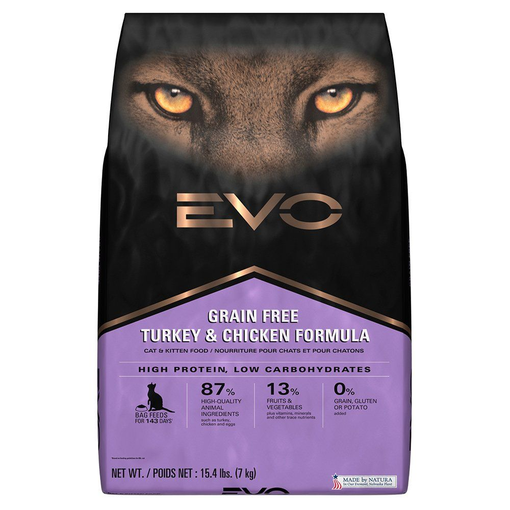 Evo Grain Free Turkey And Chicken Formula Cat And Kitten Food 15 4 Pounds You Can Get More Details By Clicking On The Imag Dry Cat Food Kitten Food Cat Food