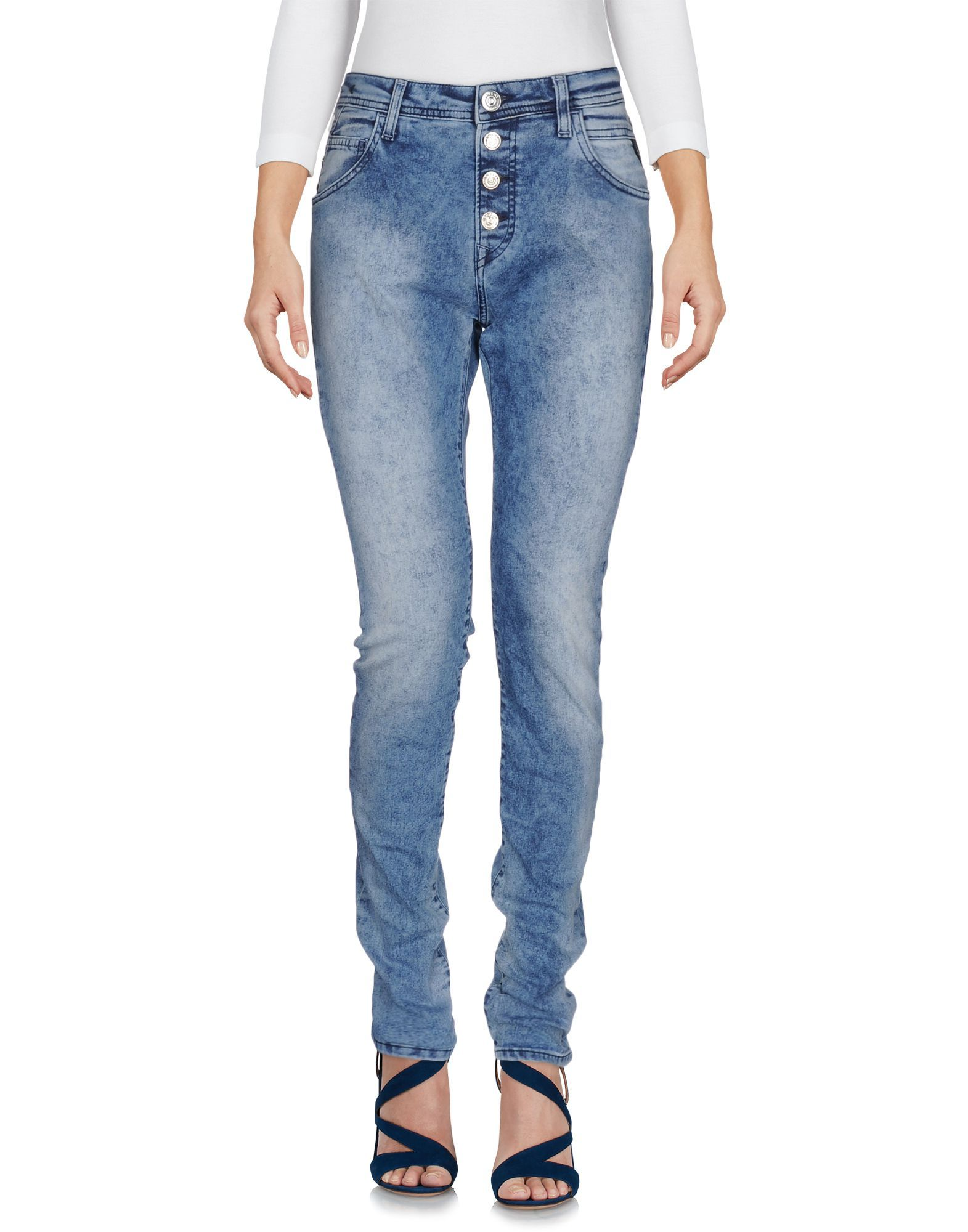 bbbf25656b Replay Women Denim Pants on YOOX. The best online selection of Denim Pants  Replay.