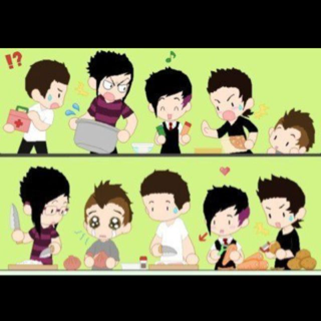 A7X chibi style :3 Shadows, The Rev, Zacky, Gates, and Johnny <3