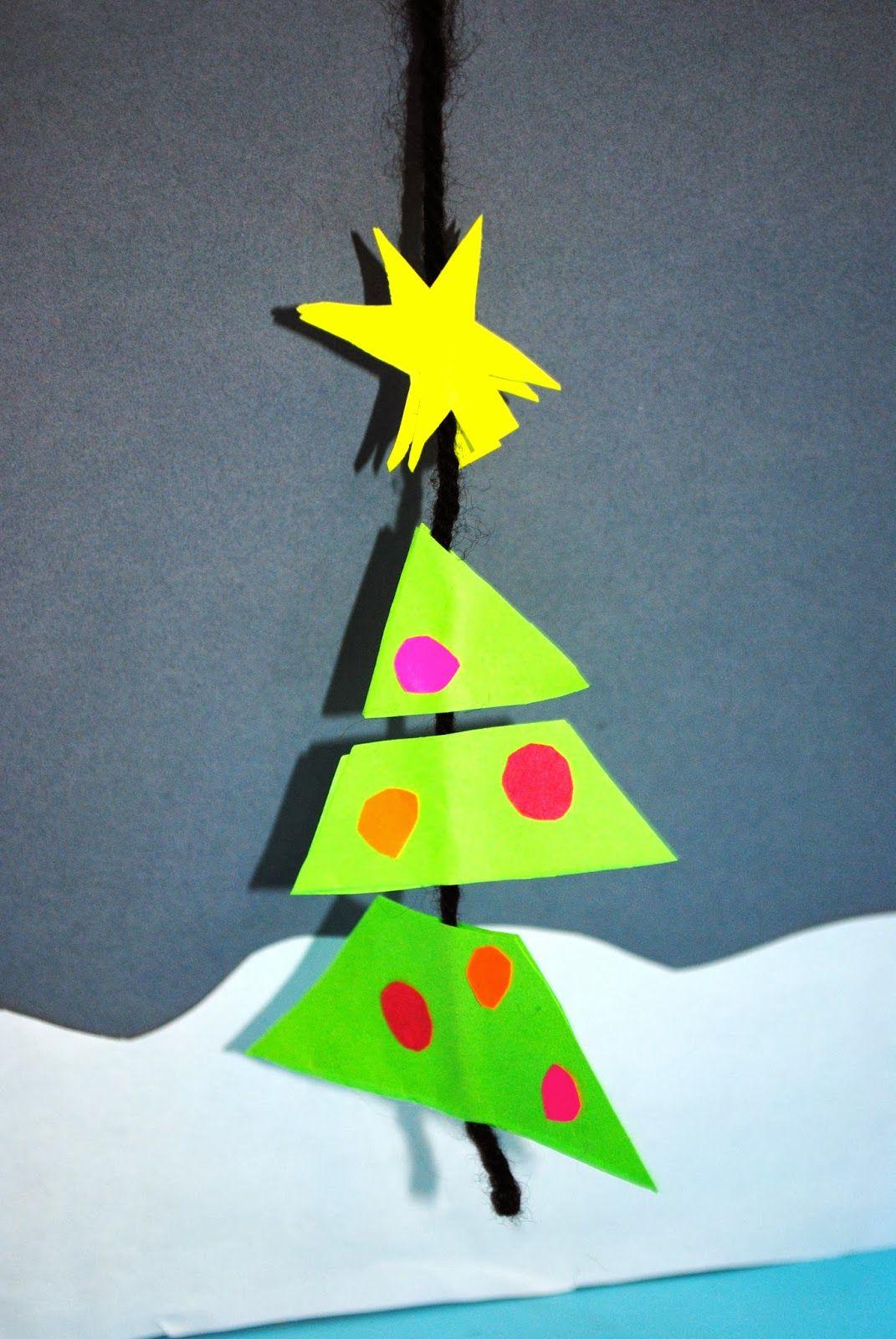 Christmas tree mobile christmas crafts pinterest christmas