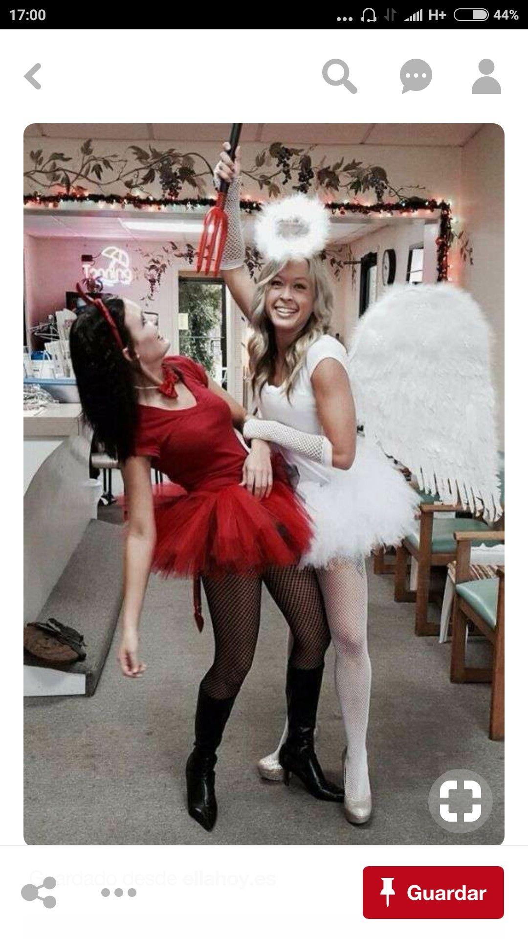 Engel und teufel kostüm