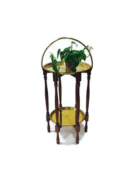 Vintage Moroccan Style Tea Table Turkish 2 Tiered Bar By Studio180