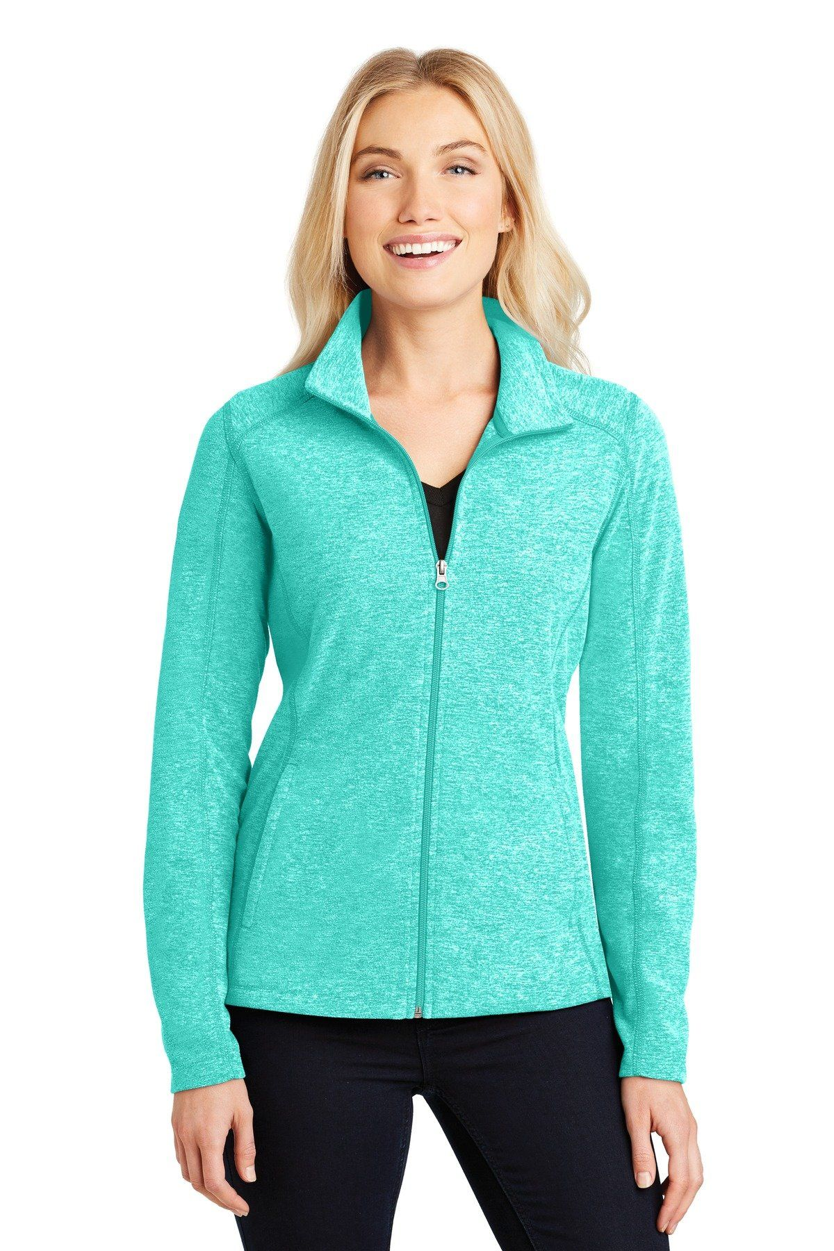 Port Authority® Ladies Heather Microfleece Full-Zip Jacket. L235 ... d1c12dc76