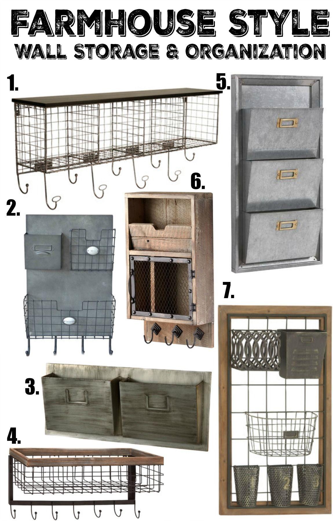 Farmhouse Wall Storage Ideas
