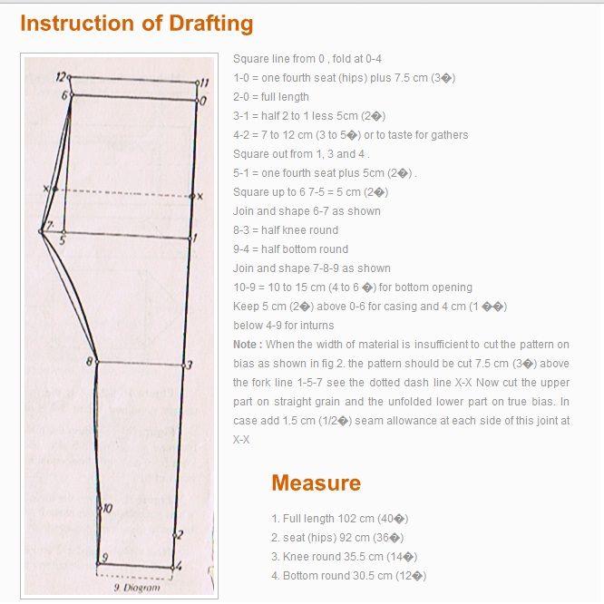 drafting pattern of churidar pant   DRESS TUTORIAL   Pinterest ...