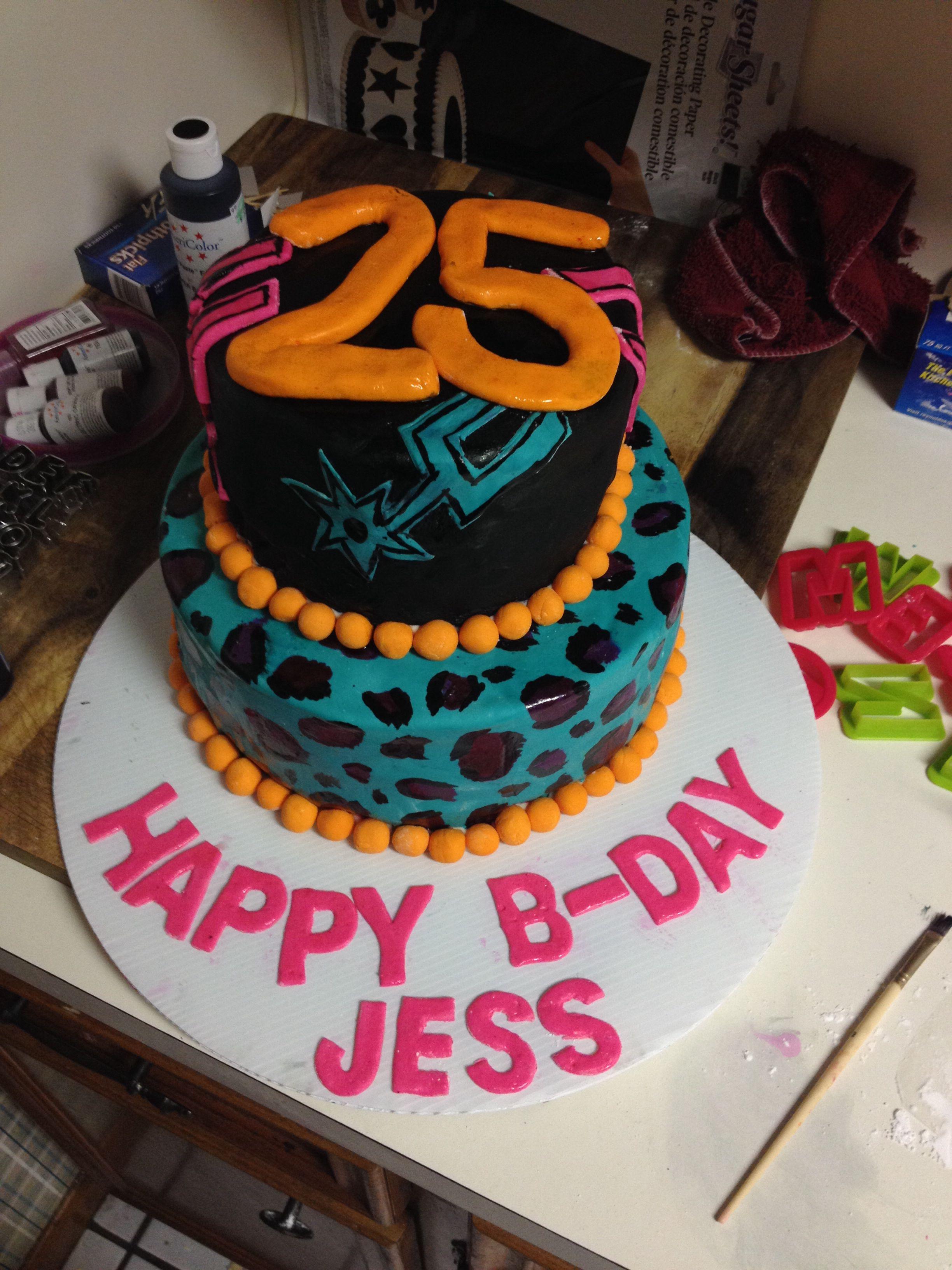 San Antonio Spurs Throw Back Colors Birthday Cake