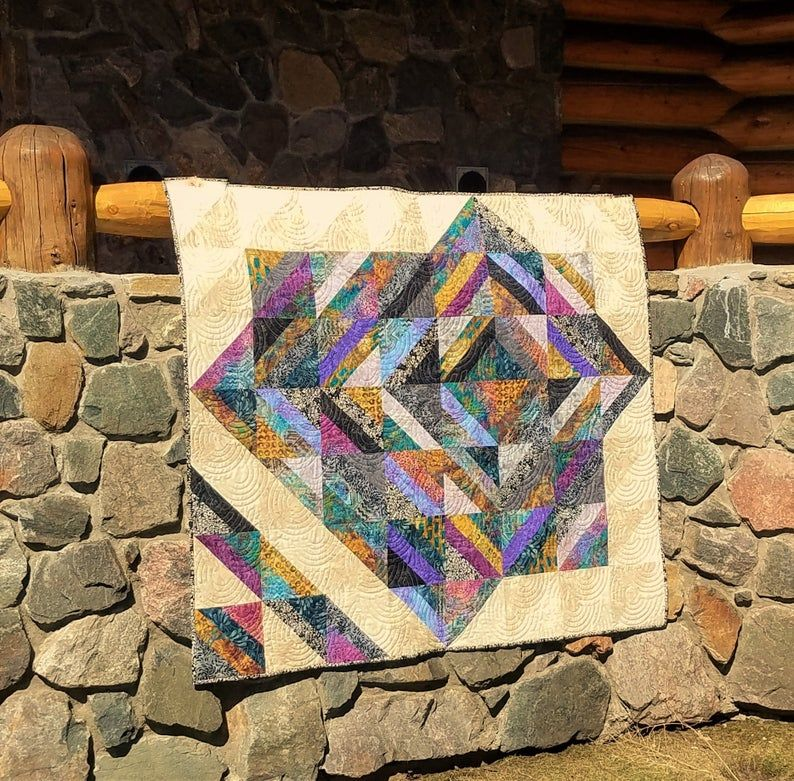 Batik Out of Africa Quilt Wall Hanging Throw Etsy in