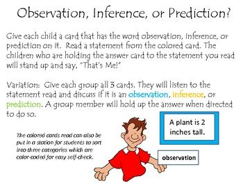 Observation Inference Or Prediction Social Studies Science