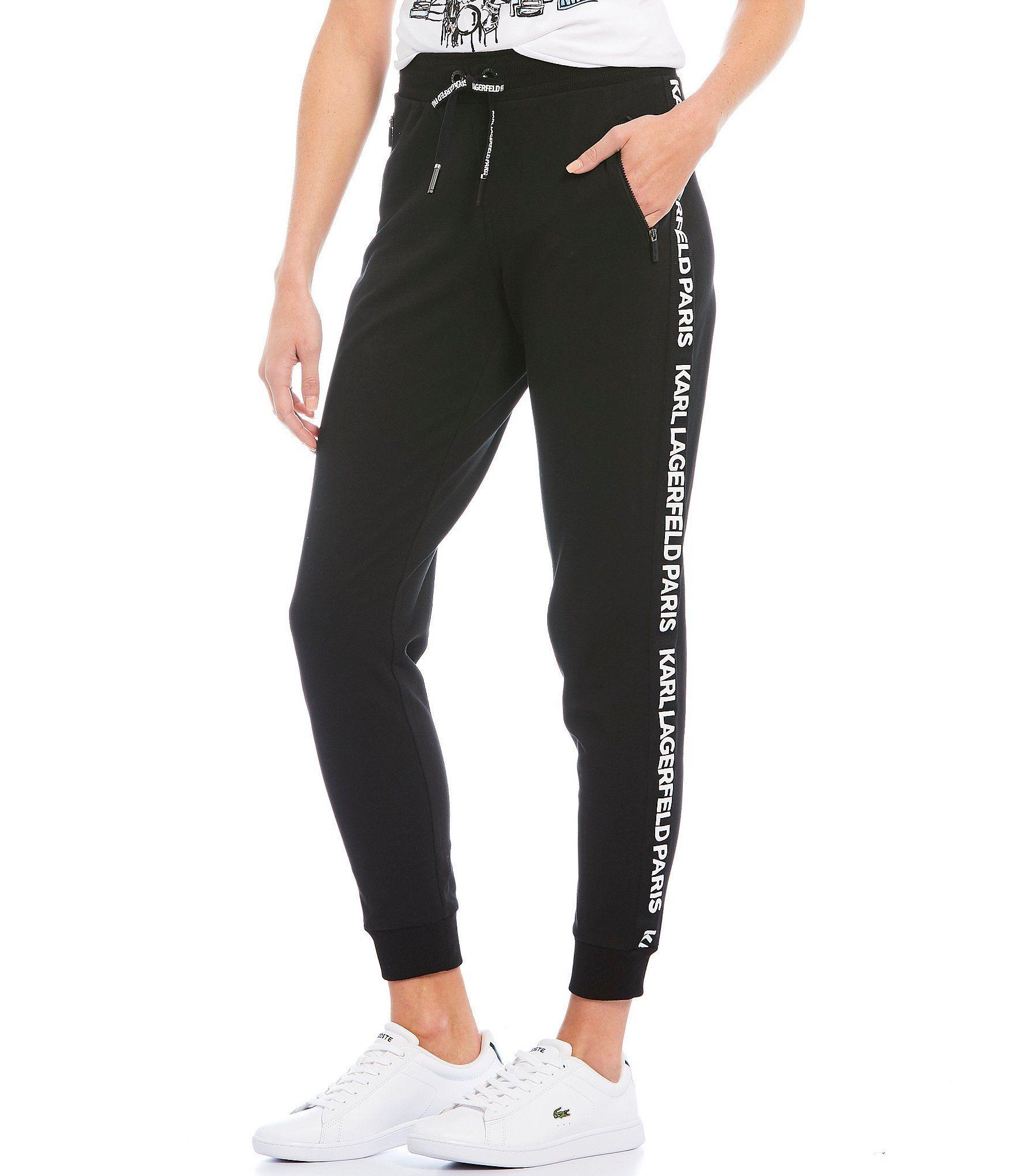 Karl Lagerfeld Paris Womens Logo Taping Jogger Pant