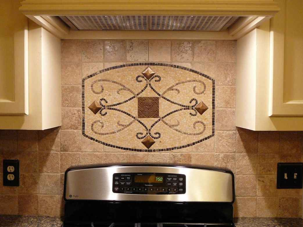 Tile backsplash ideas for behind the range kitchen for Kitchen tiles design photos