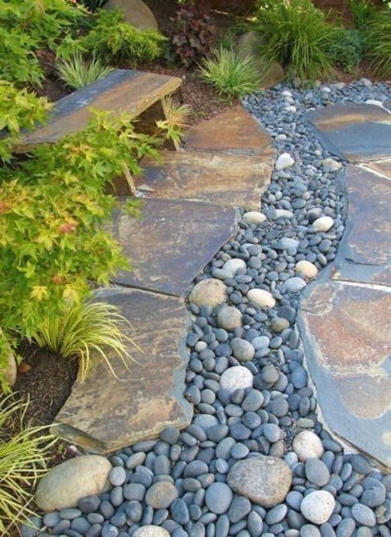 48 Outstanding River Rocks Design Ideas For Front Yard Landscapes