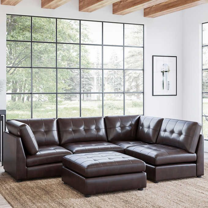 It's also a time most of us chose to renew your garden furniture. Calvin 5-piece Top Grain Leather Modular Sectional ...