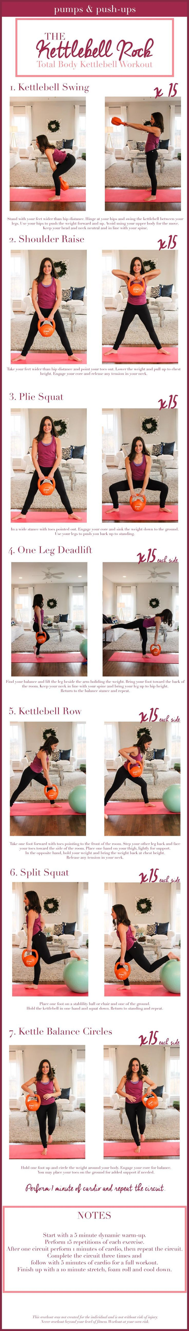 Kettlebell workout at home workout using a stability