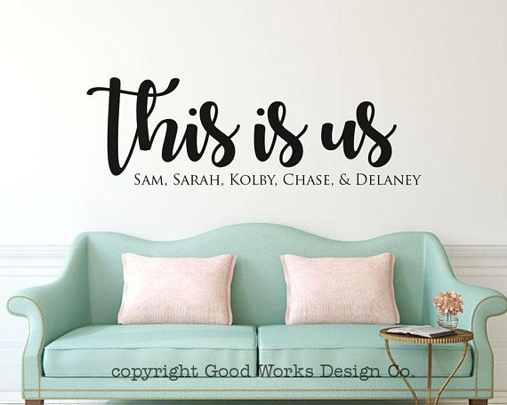 personalized this is us vinyl wall decal - family names wall sticker