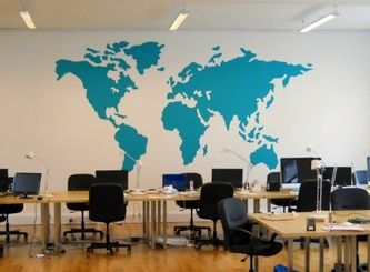 Office World Map Office World Map Office O Scanerappcom - World map for office wall