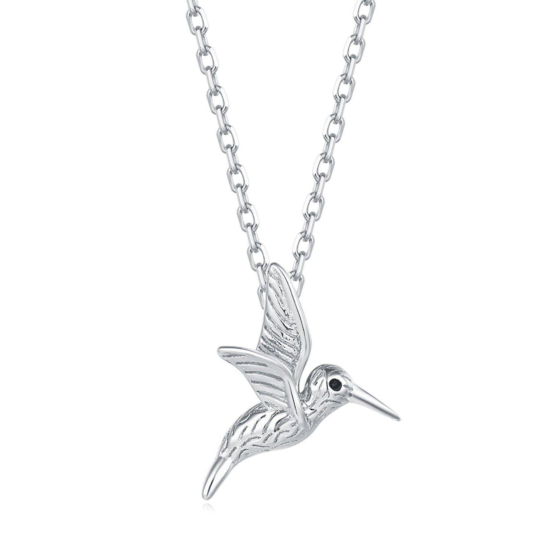 Sterling Hummingbird Pendant Necklace Hummingbird