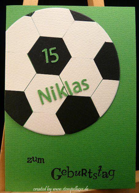 Karte Geburtstag Fussball Stempelhexe Stampin