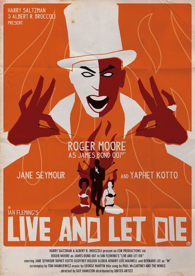 To Live And Let Die : POSTER, Print, Alain, Bossuyt, Society6, James, Movie, Posters,, Movies,, Movies