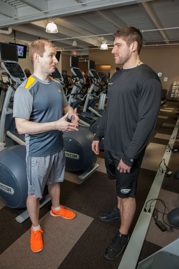 Chez Misko Talks With A Member Of The Wisconsin Athletic Club Personal Training Studio Athletic Clubs Fitness Studio