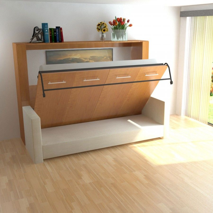 Horizontal Inline Murphy Bed And Inline Sofa Horizontal