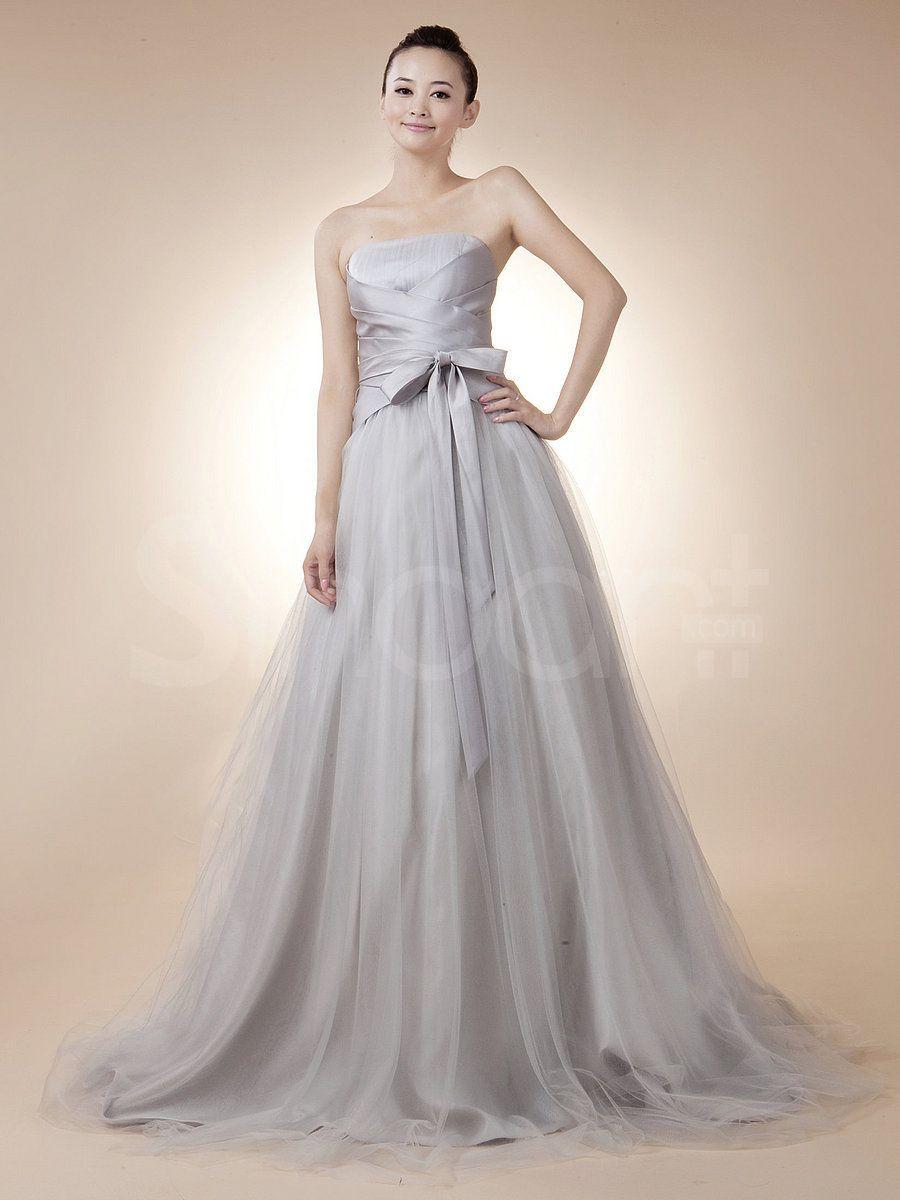 Nice dresses for wedding  Fabulous Silver Tulle Evening Dress  Beautiful dresses  Pinterest