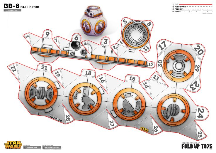 photo about Bb 8 Printable referred to as BB-8 Star Wars Paper Toy Template star wars Paper toys