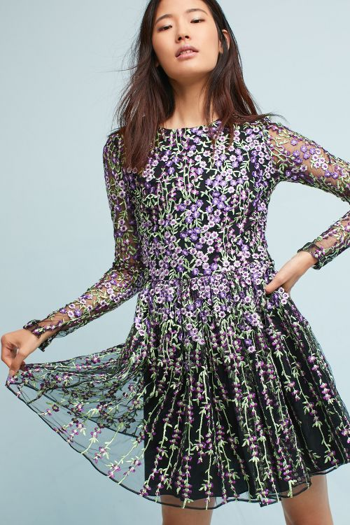 28a62a8b4fd0 Arranmore Embroidered Dress. Arranmore Embroidered Dress Purple Floral Dress,  Anthropologie Clothing ...