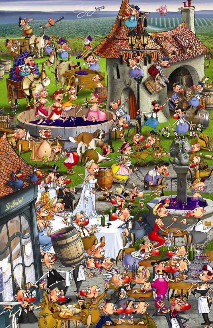 Francois Ruyer: Story of Wine - Piatnik 1000pc Jigsaw