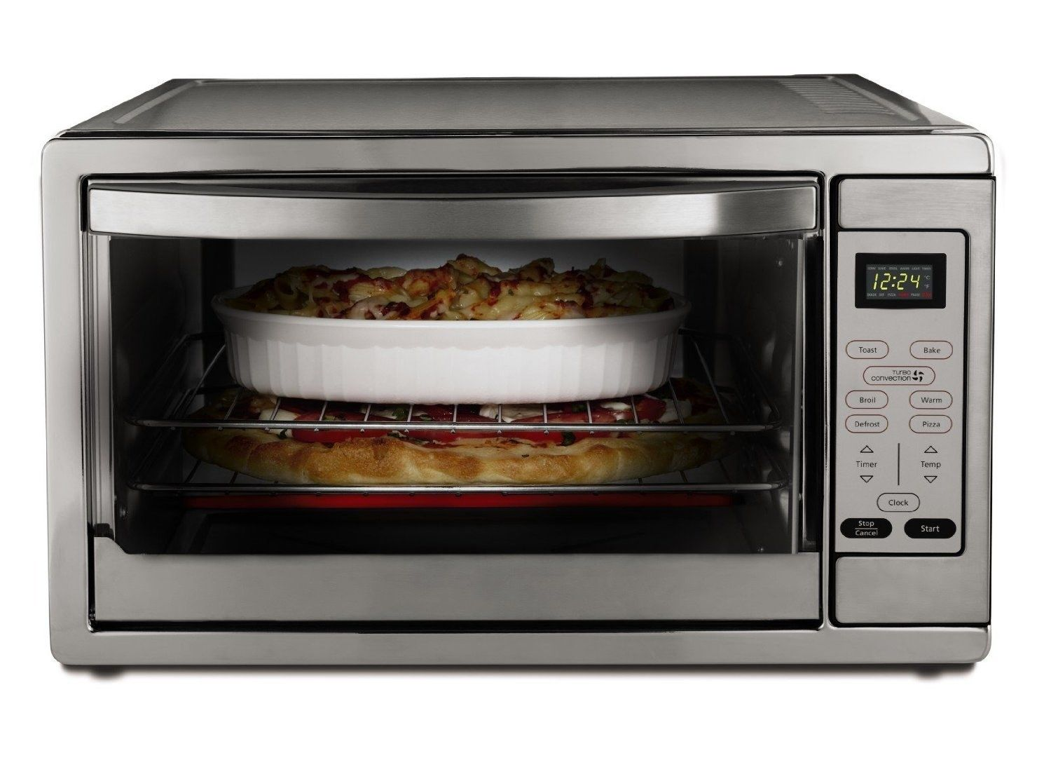 A Large Countertop Oven That Uses Convection Technology Cooking