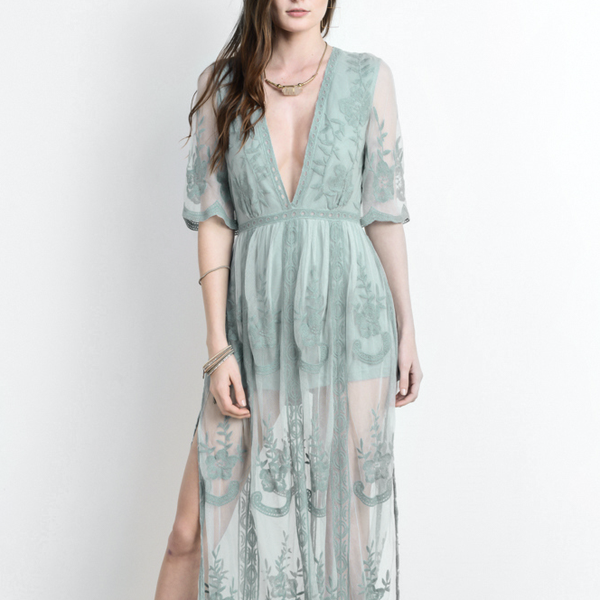 0c5d7e1b49ff As you wish embroidered lace maxi dress (women) - more colors