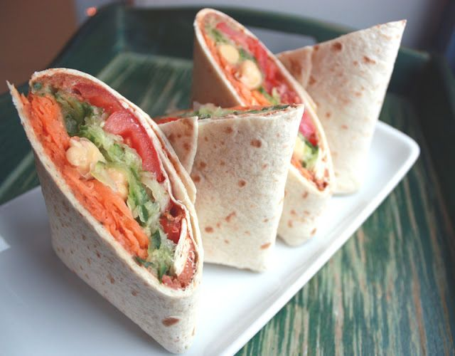 VeganMisjonen: Vegansk lunch: Wrap med grønnsaker og hummus