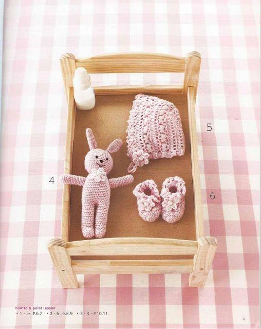 PATRONES GRATIS DE CROCHET: CANASTILLA de bebe a crochet: patrón ...