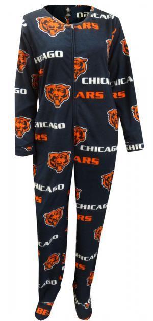 1f61fc53 WebUndies.com Chicago Bears Womens Onesie Footie Navy Blue Pajama ...