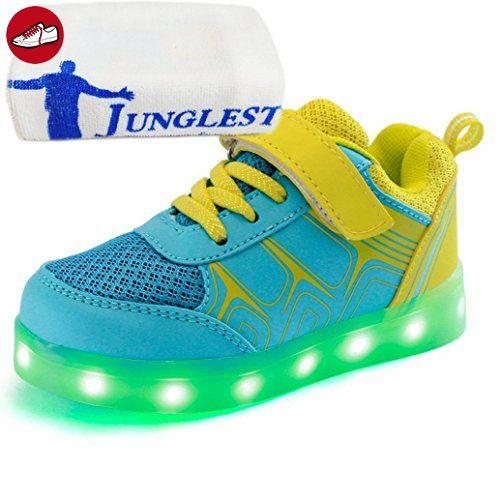 [Present:kleines Handtuch]Schwarz EU 38, Erwachsene bunt Aufladen Schuhe LED JUNGLEST® Winter weise Herren USB Sport Leuchtend Damen laufende Freizeitschuhe Leucht