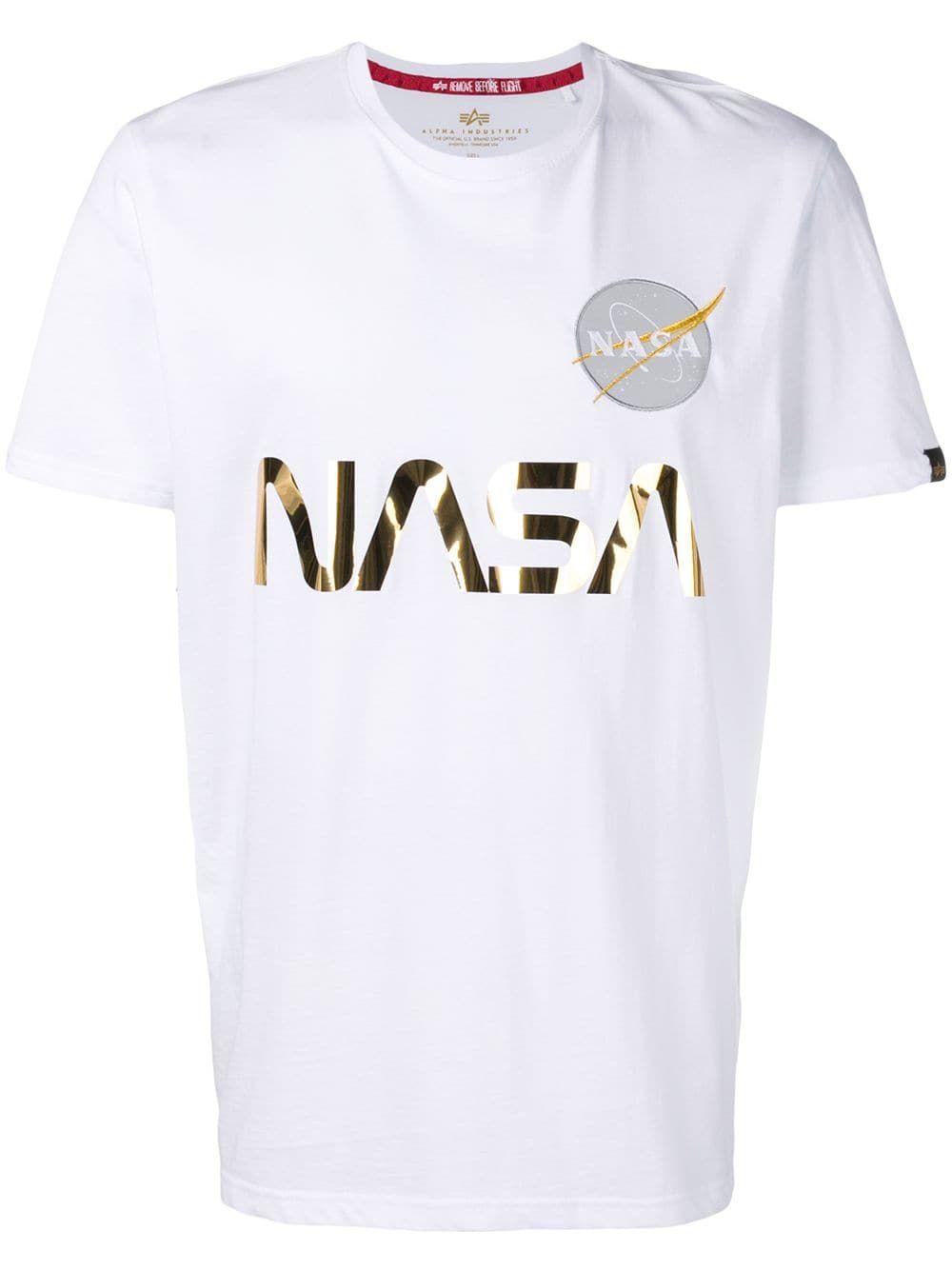 Alpha Industries T-Shirt Nasa Reflective White Camo
