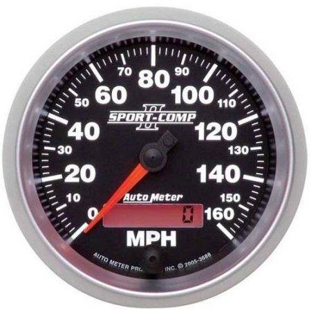 Auto Meter 3-3/8 inch Sdo, 160 Mph, Programmable, Multicolor ... on