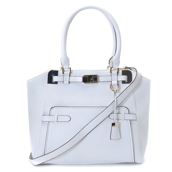 michael kors blake pebbled leather large white satchels outlet rh pinterest com