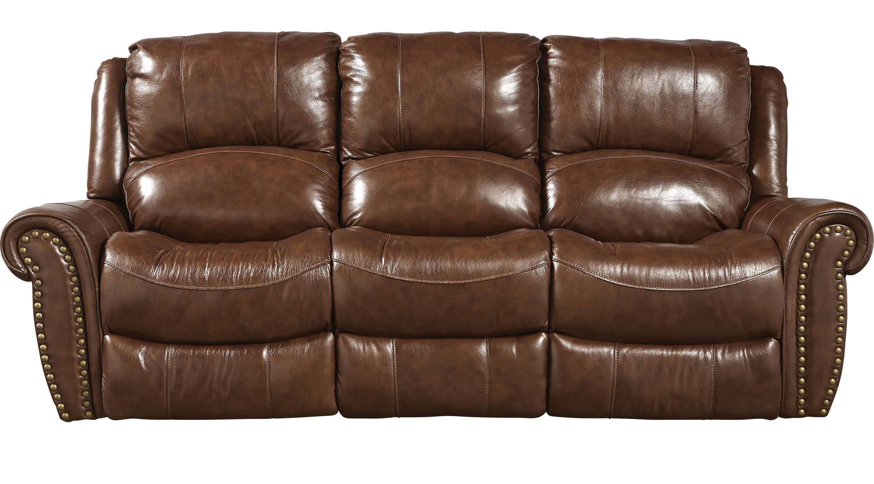 Sofas Rooms To Go Abruzzo Brown Leather Reclining Sofa