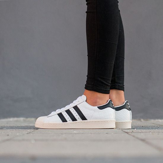 superior quality 3ec4a 96931 Women Shoes sneakers Adidas Originals Superstar 80s S76416 On Feet White  Core Black Shoes 2016