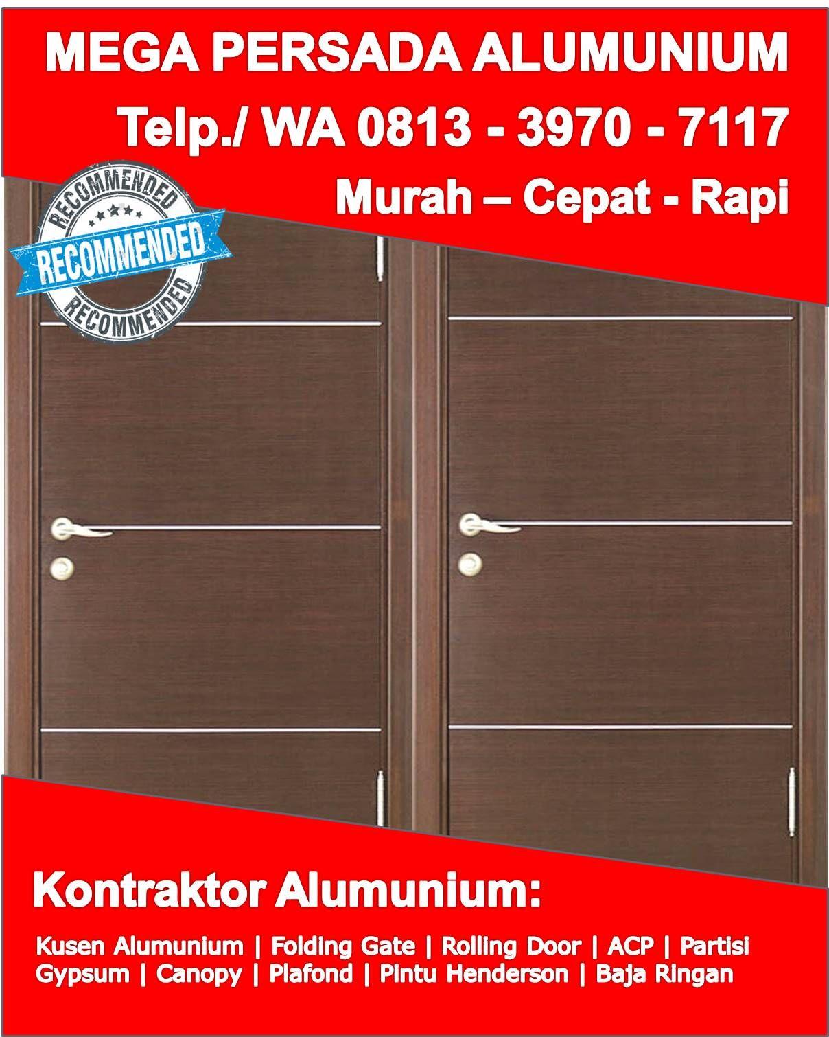 Kusen Pintu Alumunium Modern Sukoharjo Telp Wa 0813 3970 7117