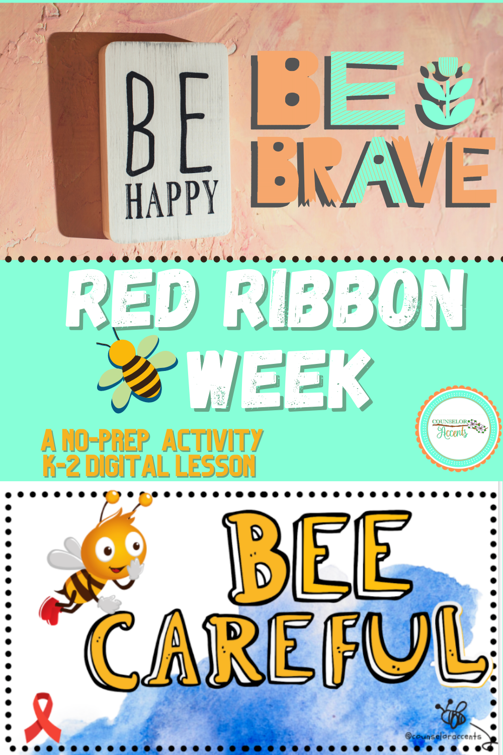 Red Ribbon Activity Bee Careful Red Ribbon Week Red Ribbon First Year Teaching [ 1500 x 1000 Pixel ]