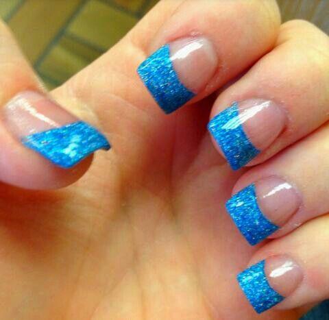 Acrylic Blue Tips 3 Acrylic Nail Tips French Tip Acrylic Nails Blue Nails
