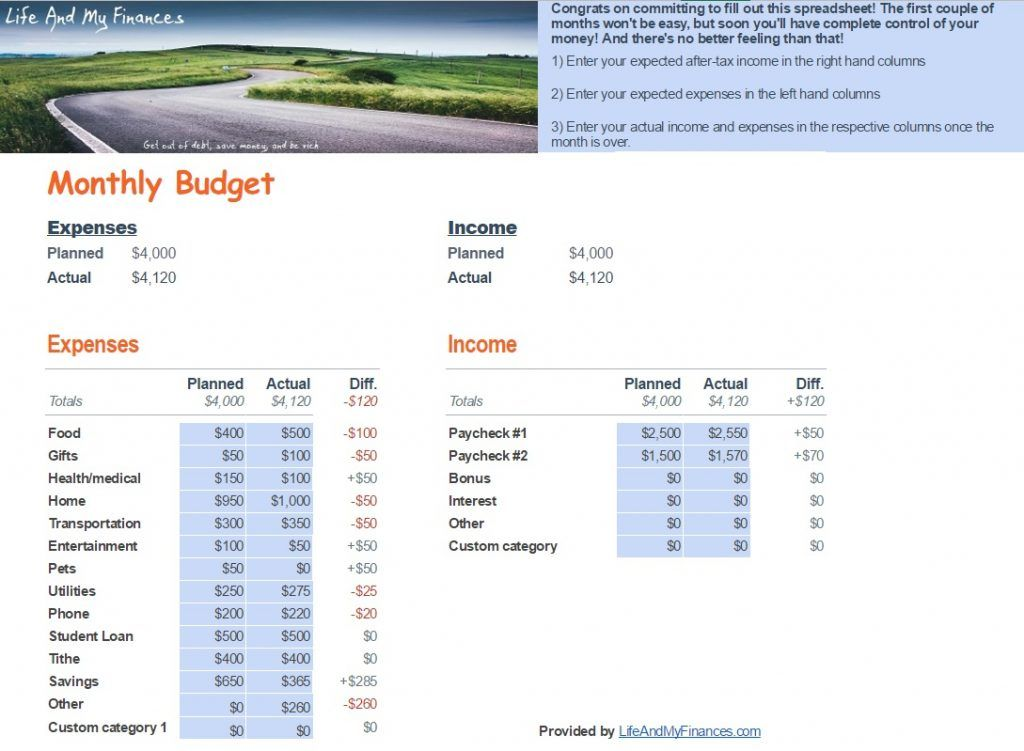 How to Save Hundreds of Dollars a Month (Free Budget Tool Included!) - budget calculator spreadsheet