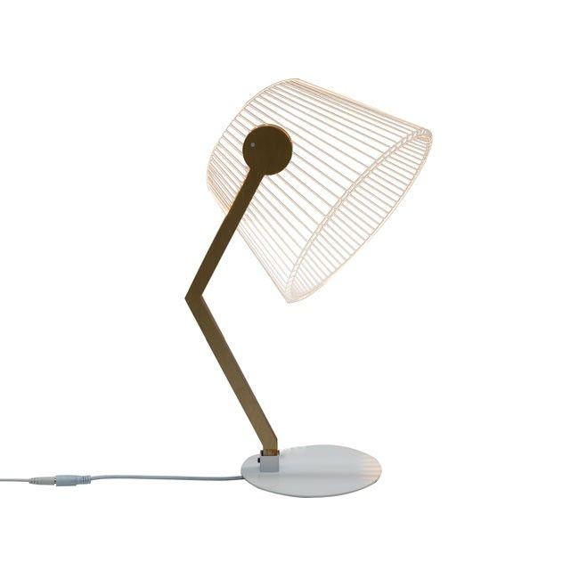 The Ziggi Desk Lamp Is An Alluring 2d Light By Tel Aviv Based Studio Cheha Laser Engraved Clear Acrylic Glass And Hidden Le Lamp Adjustable Lighting Desk Lamp